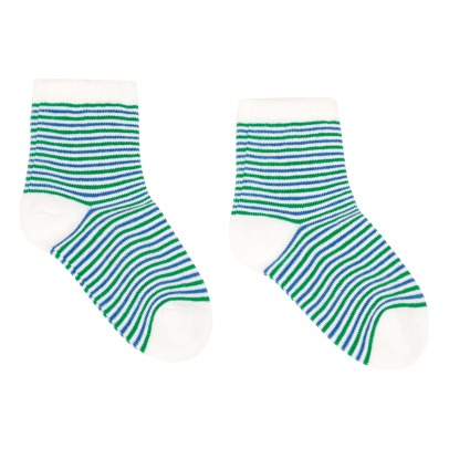 Bonton Tricolour Striped Socks-listing