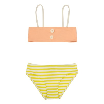 Bonton Adelle Buttoned Tricolour 2 Piece Swimsuit-listing
