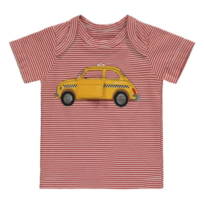Milk on the Rocks T-shirt a righe Taxi Teddy -listing