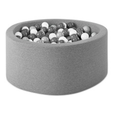 product-Misioo Silver, White and Grey Ball Pool