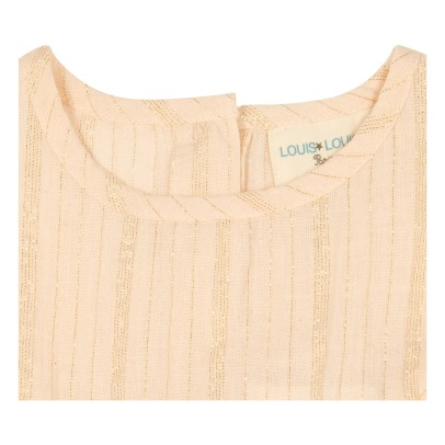 Louis Louise Blusa a righe in lurex con volants Victoire -listing