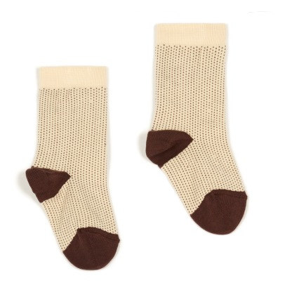 Caramel Dot Socks-listing