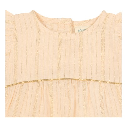 Louis Louise Melo Lurex Striped Blouse-listing