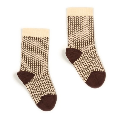 Caramel Herringbone Socks-product