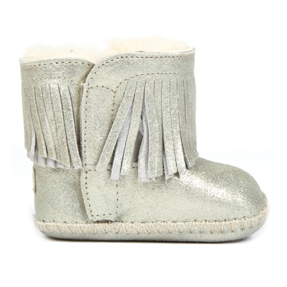 Ugg Branyon Fur Lined Fringed Boots-listing