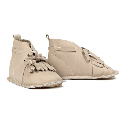Birds of Nature Desert Leather Fringe Boots-listing