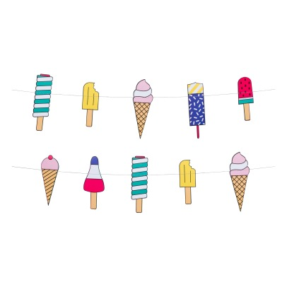 My Little Day Ice Cream Paper Garland - 3 metres-listing