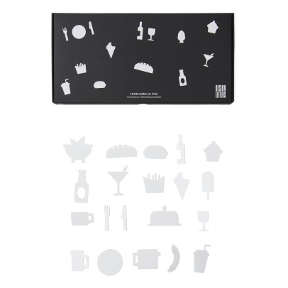 Design Letters Message Board Food Icons - Set of 21-listing