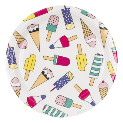 My Little Day Ice Cream Paper Plates - Set of 8-listing