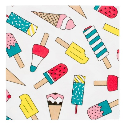 My Little Day Ice Cream Paper Napkins - Set of 20-listing