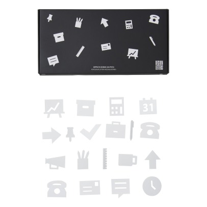 Design Letters Icones bureau pour tableau à message - Set de 20-product