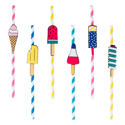 My Little Day Ice Cream Straws - Set of 12-listing