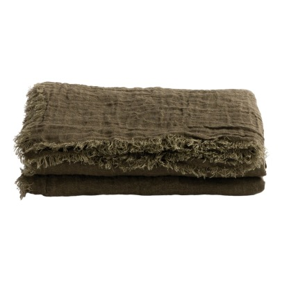 Maison de vacances Vice Versa Washed Linen Gauze Fringed Plaid-listing