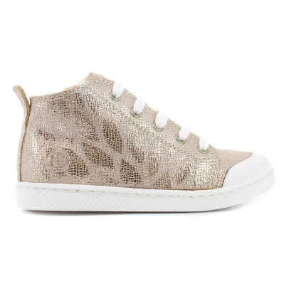 10 IS Sneakers in pelle iridata con zip laterale e lacci -listing