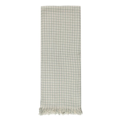 Communauté de biens Checked Washed Linen Mesh Plaid-listing
