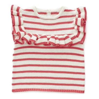 Oeuf NYC Organic Pima Cotton Striped Knit Top-listing