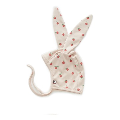 Oeuf NYC Organic Pima Cotton Flower Rabbit Newborn Hat-listing