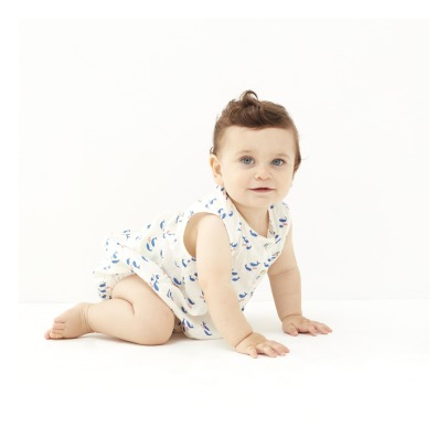Oeuf NYC Whale Linen Romper-listing