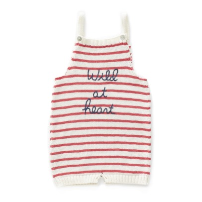 Oeuf NYC Striped Organic Pima Cotton Playsuit-listing