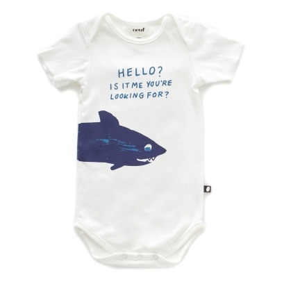 Oeuf NYC Organic Pima Cotton Shark Bodysuit-listing