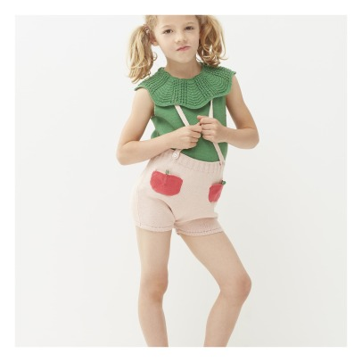 Oeuf NYC Peach Shorts with Braces-listing