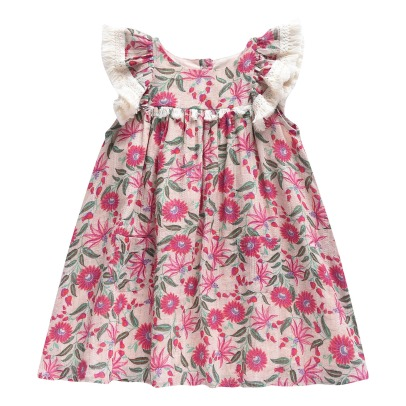 Louise Misha Acapulco Pompom Ruffled Floral Lurex Dress-listing