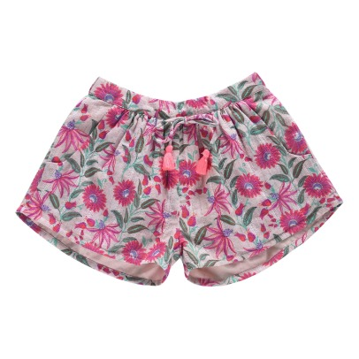 Louise Misha Nutsy Lurex Floral Shorts-listing