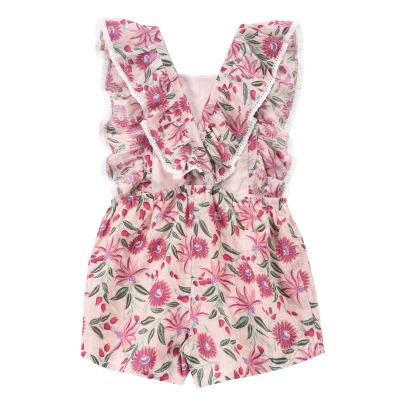Louise Misha Honolulu Floral Lurex Playsuit-listing