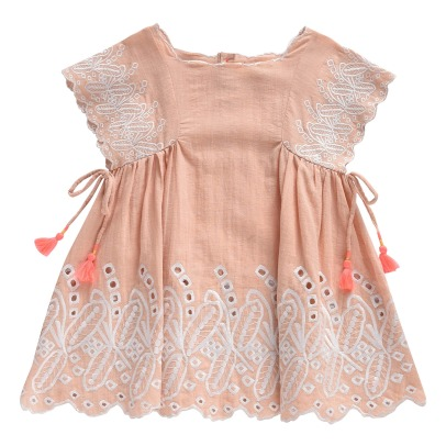 Louise Misha Nouchka Pompom Embroidered Dress-listing
