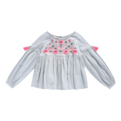 Louise Misha Sarah Embroidered Flower Blouse-product