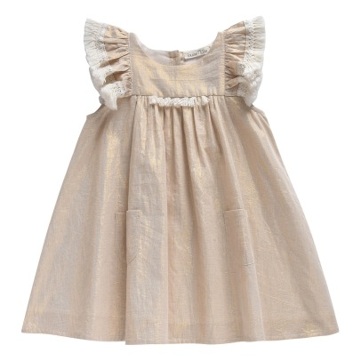 Louise Misha Acapulo Pompom Ruffled Iridescent Dress-listing