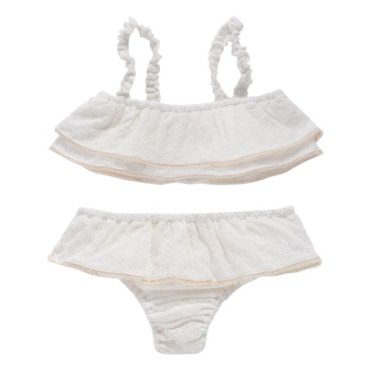 Louise Misha Bluna Embroidered 2 Piece Swimsuit-listing