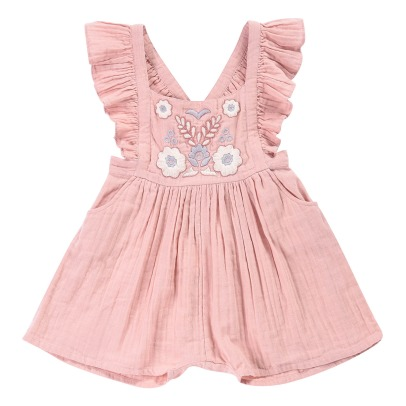 Louise Misha Clara Ruffled Embroidered Playsuit-listing
