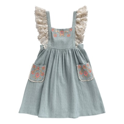 Louise Misha Akriti Lace Embroidered Pinafore Dress-listing