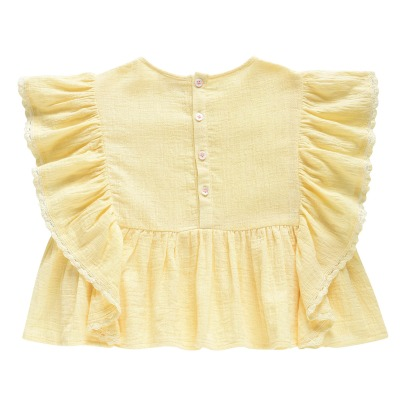 Louise Misha Bundi Embroidered Detail Ruffled Blouse-listing
