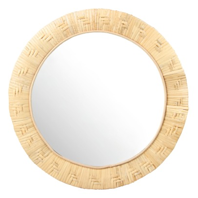 Klevering Round Bamboo Mirror D27.5cm-listing