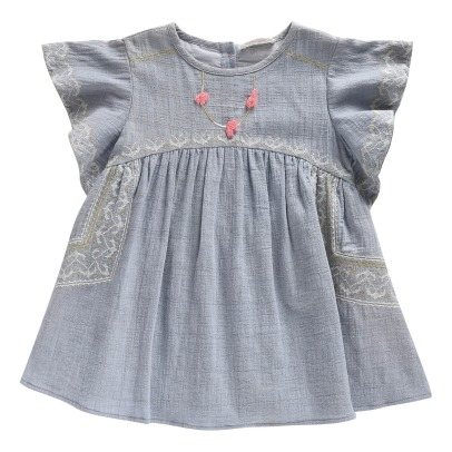 Louise Misha Numidie Embroidered Dress-listing