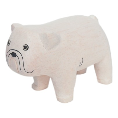 T-Lab Bulldog Wooden Figurine-listing
