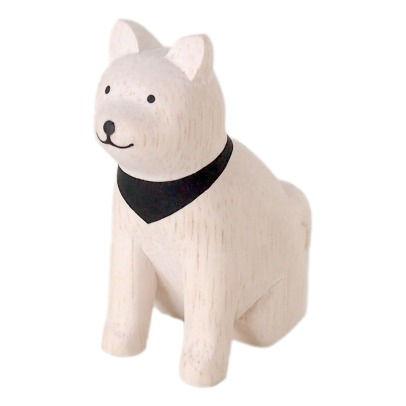 T-Lab Akita Dog Wooden Figurine-listing