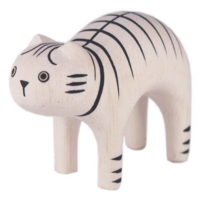 T-Lab Tiger Cat Wooden Figurine-listing