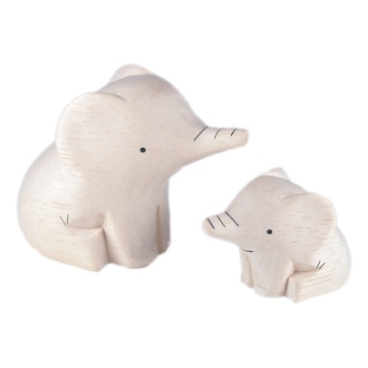T-Lab Elephant Wooden Figurines - Set of 2-listing