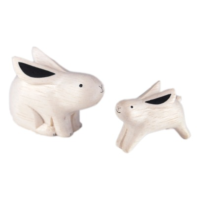 T-Lab Rabbit Wooden Figurines - Set of 2-listing