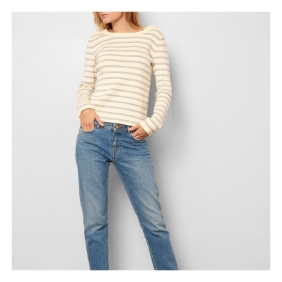 Sessun Commanders Buttoned Stripe Jumper-listing