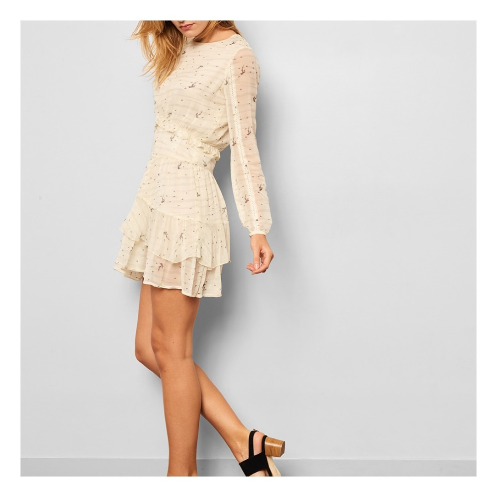 Sale - Sujin Bird Ruffled Dress - Sessun Sessun Cheap Low Price Cheap Pre Order Free Shipping Exclusive DONfy