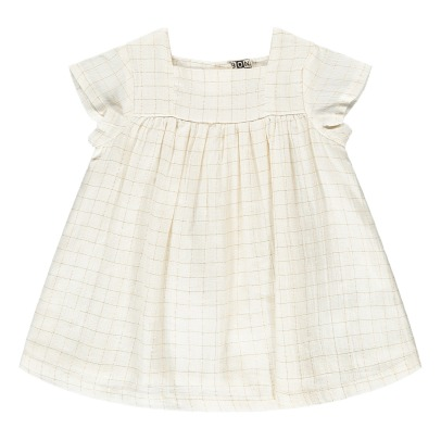 Bonton Indil Lurex Checked Dress-listing