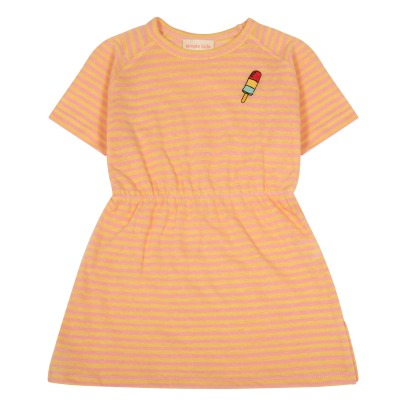 Simple Kids Abito in jersey a righe Milan-listing