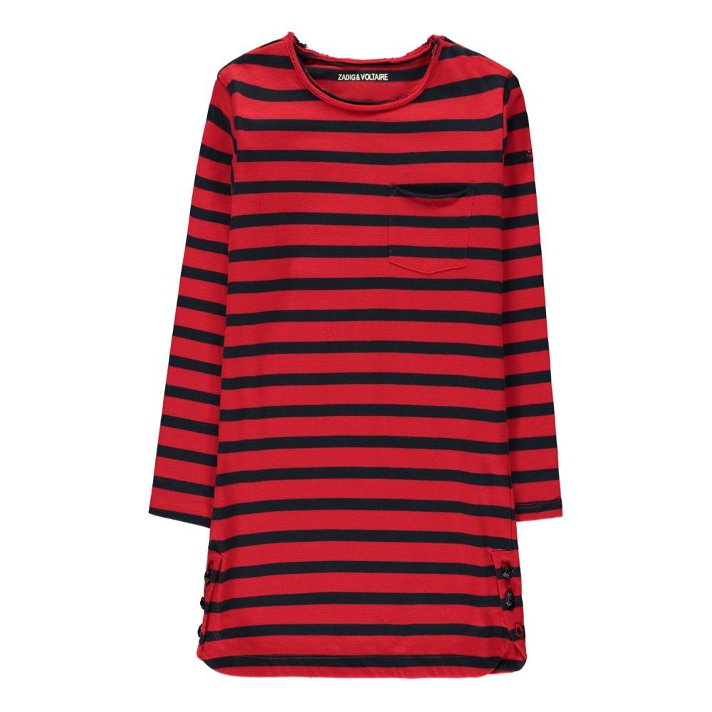 Gesteiftes Kleid Muse Billie Rot Zadig & Voltaire Mode Teenager ,