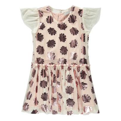 Stella McCartney Kids Abito in tulle stampa conchiglie Bellie -listing
