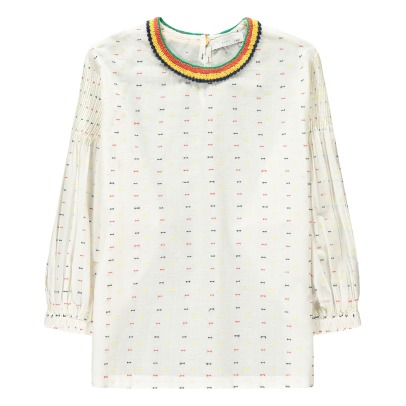 Stella McCartney Kids Juliana Contrasting Collar Dobby Spot Blouse-listing