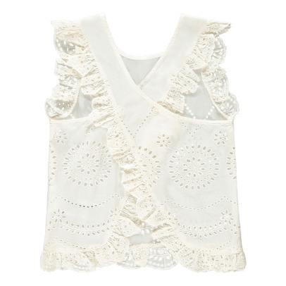 Stella McCartney Kids Top Broderie Anglaise Moss-listing